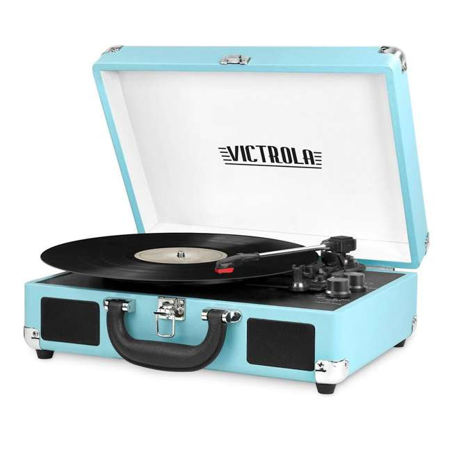 VSC-550BT-TQ Victrola 3-Speed Bluetooth Suitcase Record Player, Turquoise