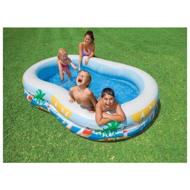 56490EP INTEX Swim Center Inflatable Paradise Kids Swimming Pool (Open Box) (2 Pack) 2