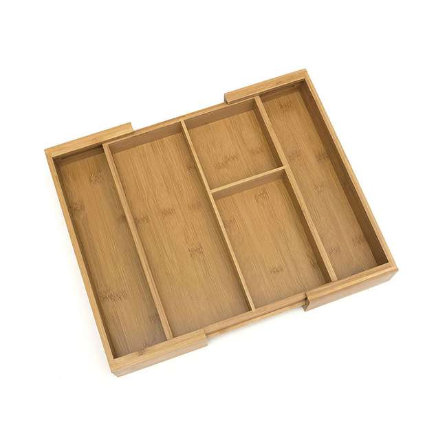 4 x LP-8893 Lipper Bamboo Expandable Gadget Organizer Tray (4 Pack) 2