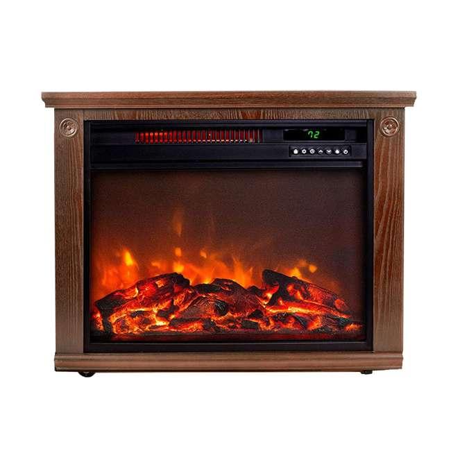 LS-IF1500-DOFP Lifesmart LS-IF1500-DOFP Large Room Quartz Infrared Fireplace Space Heater, Oak