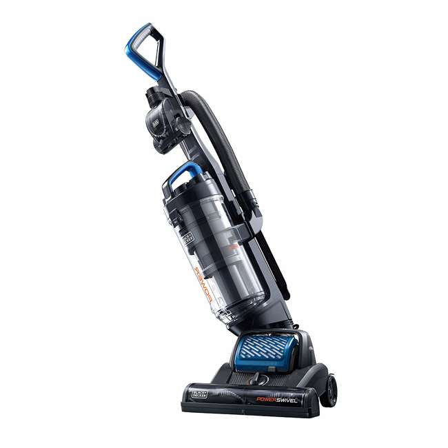BDPSC103 Black and Decker BDPSC103 POWERSWIVEL Lightweight Bagless Upright Vacuum, Blue 1