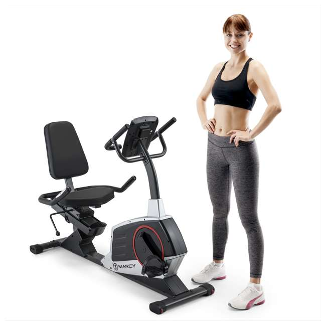 ME-706-U-C Marcy Regenerating Magnetic Recumbent Home Workout Exercise Bike (For Parts)