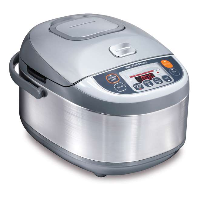 37570 Hamilton Beach 3.5 Quart Advanced Multi Function Rice Cooker, Stainless Steel