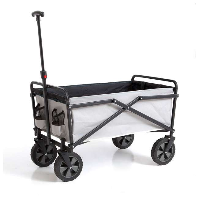 SUW-307-GRAY-YETI Seina Compact Folding Outdoor Utility Cart, Gray 3