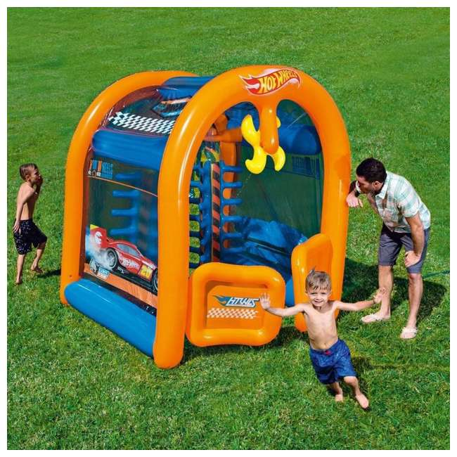 93406E-BW Bestway Inflatable Hot Wheels Car Wash Play Center 2