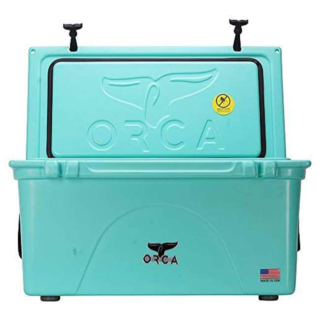 ORCSF075 Orca ORCSF075 75 Quart 15 Gallon Roto Molded Insulated Outdoor Cooler, Seafoam 2