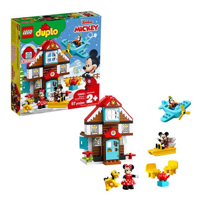 6250698 LEGO DUPLO 10889 Disney Junior Mickey's Vacation House Building Kit w/ 4 Figures 1