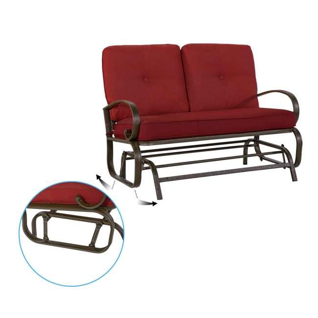 CM0002-U-B Cloud Mountain Furniture Porch Patio Loveseat Glider Sofa Couch Swing (Used) 3