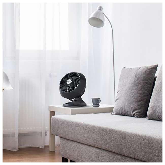 VOR-560-BLACK Vornado 560 Medium Air Circulator Floor Fan, Black (2 Pack) 5
