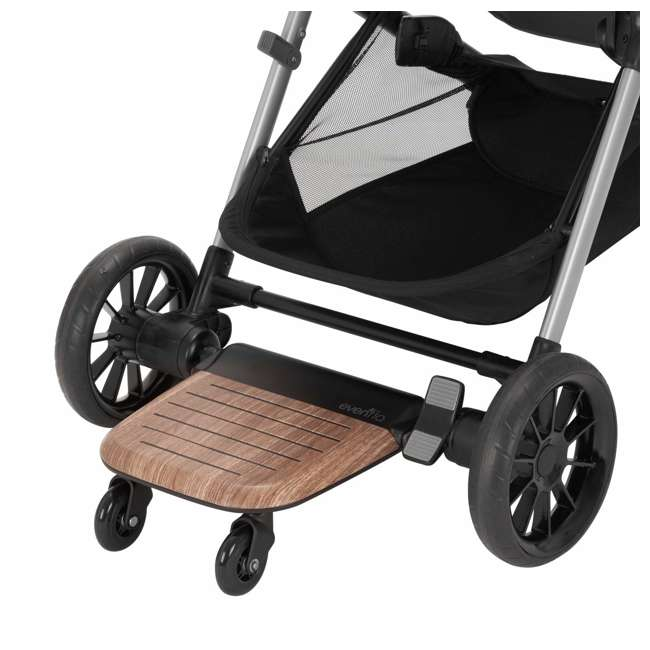 630439 Evenflo Stroller Stand and Ride Rider Board Accessory Attachment Only, Wood 5