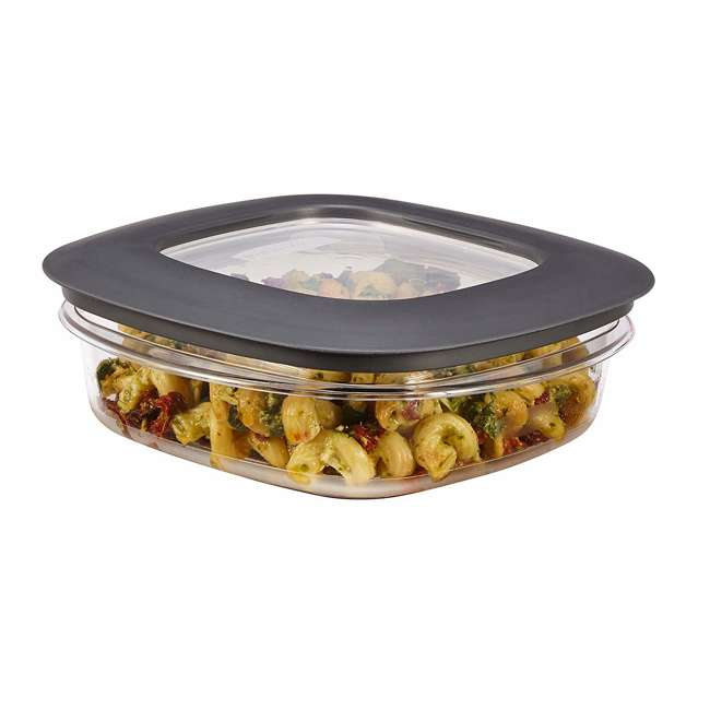 1937648 Rubbermaid 3-Cup Square Storage Container with Lid, Clear 4