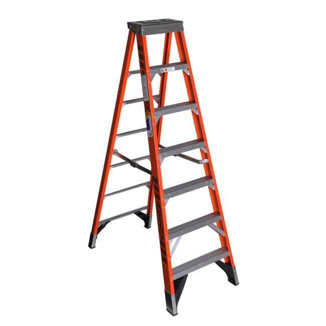 W-7407 Werner 7 Foot Fiberglass Step Ladder with 375 Pound Capacity Type IAA Rating