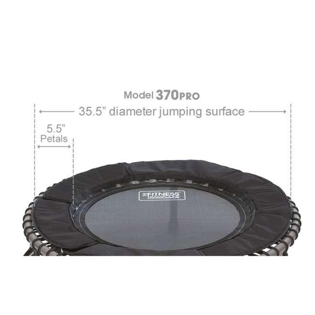 RBJ-S-20751-00 JumpSport 370 PRO Indoor Lightweight 39-Inch Folding Fitness Trampoline, Black 3