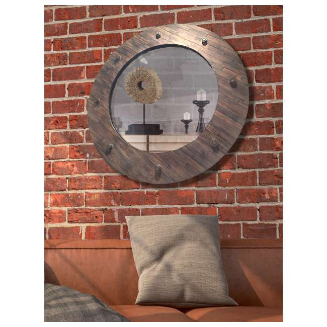 2637-B Majestic 32-Inch Rustic Wood Framed Accent Mirror 2