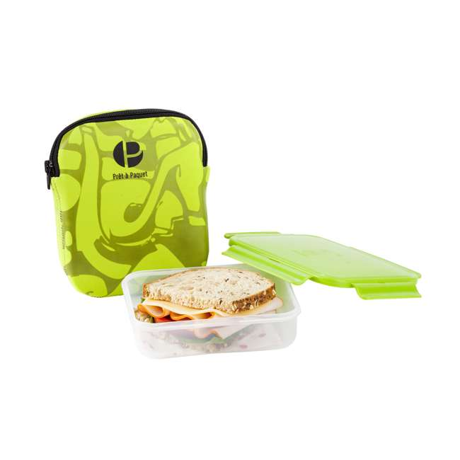 6 x S3004 Life Story Sandwich Pack and Carry Case, Green (6 Pack) 1