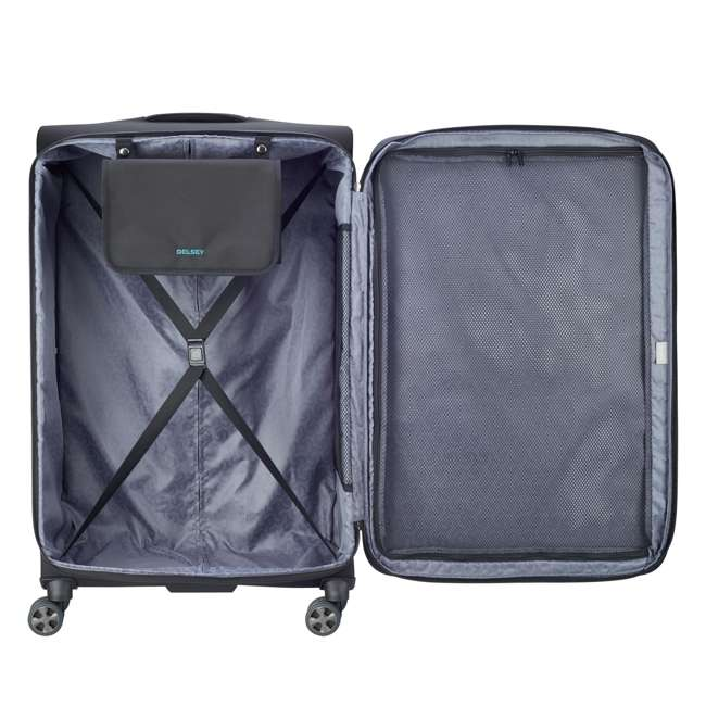 "40229183000 DELSEY Paris 29"" Expandable Spinner Upright Hyperglide Luggage Suitcase, Black 2"