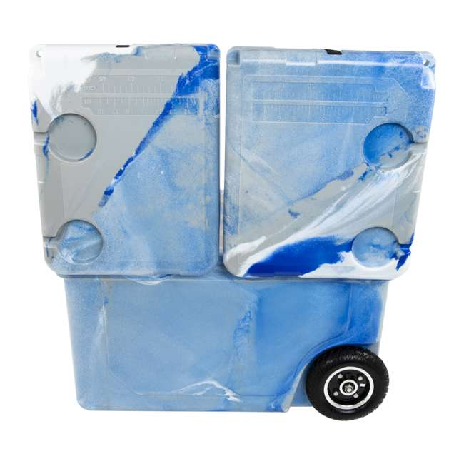 HC50-17M WYLD HC50-17M 50 Qt. Dual Compartment Insulated Cooler w/ Wheels, Marine Blue 2