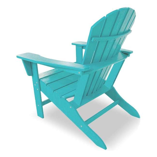ADIRONDACKB Leisure Classics UV Protected Indoor Outdoor Patio Chair, Turquoise (2 Pack) 2