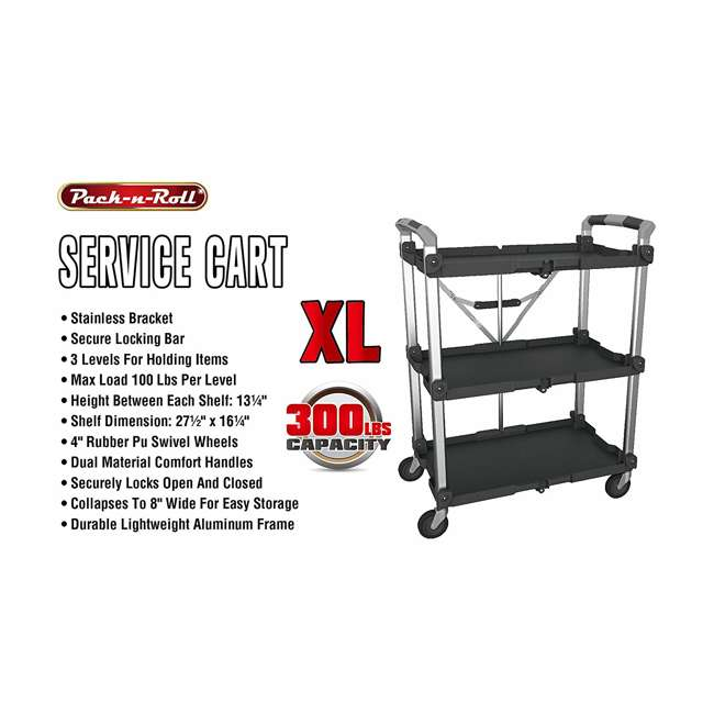85-189 Olympia Tools 85-189 Pack n Roll XL Collapsible Storage Service Cart with Wheels 4