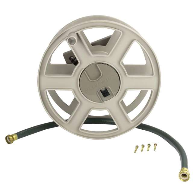 CPLSWA100-U-A Suncast 100 Ft. Wall Mount Garden/Yard Hose Reel Side Winder- Taupe (Open Box) 1