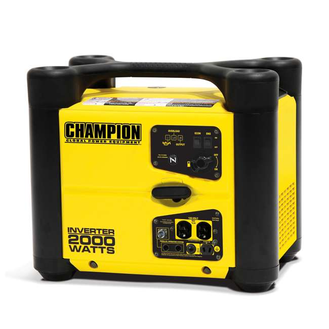 CPE-GN-73536i-U-D Champion 2000 Watt Quiet Camping Gasoline Power Inverter Generator (Damaged)