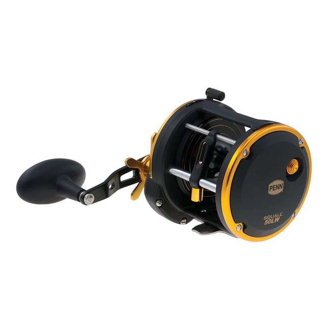 SQL50LW Penn SQL50LW Squall Levelwind Saltwater Fish Trolling Fishing Reel, Black & Gold 1