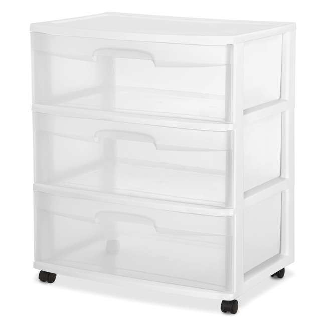 4 x 29308001 Sterilite 3-Drawer Wide Storage Container (4 Pack) 2