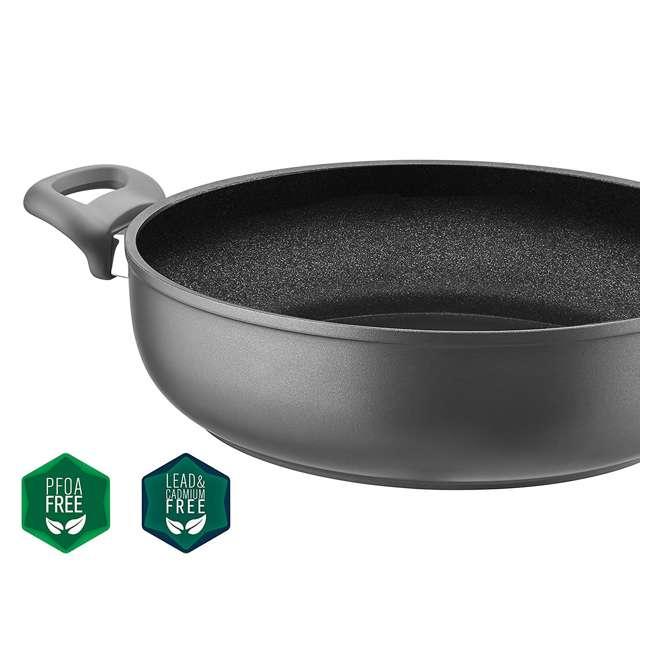 SFSAUTE4T Saflon SFSAUTE4T 4 Quart Nonstick Titanium Aluminum Saute Pot and Glass Lid 4