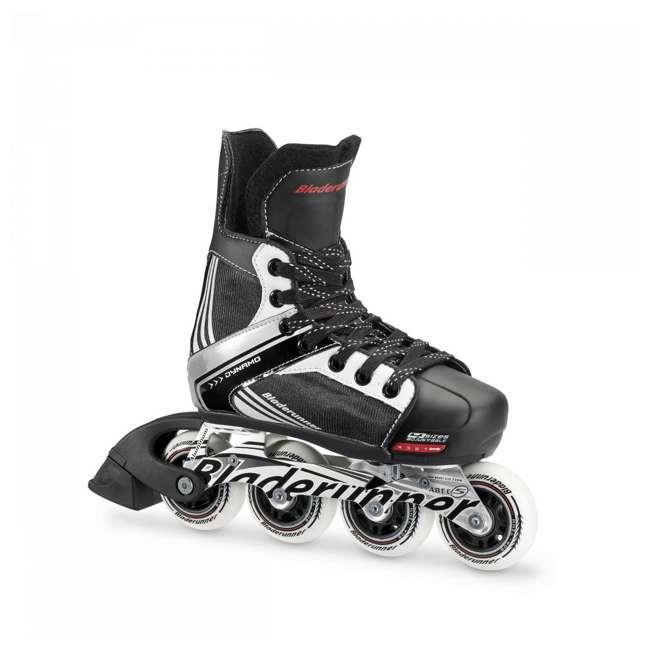 0T200100741-L Rollerblade Dynamo Unisex Kids Adjustable Fitness Inline Skate, Large, Black