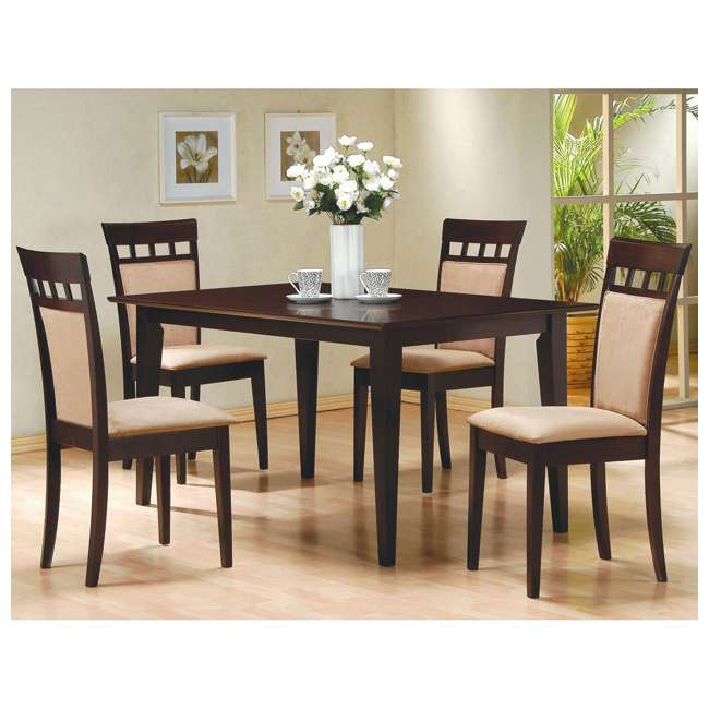 3 x 100773ii-PAIR Coaster Home Furnishings Gabriel Wheat Back Side Dining Room Chairs (6 Pack) 5