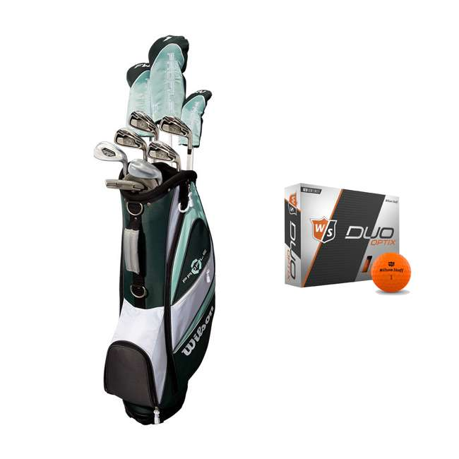 WGGC4380L + WGWP40800 Wilson Profile XLS Women's Left Hand Graphite Golf Club Set & Balls