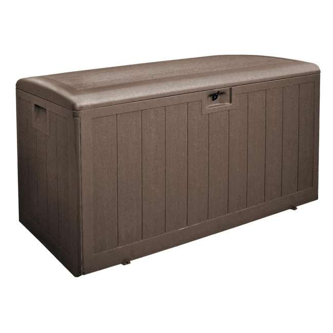 HDEDB130WLJ-GS Plastic Development Group 105 Gallon Deck Box with Gas Shock Lid, Java Brown