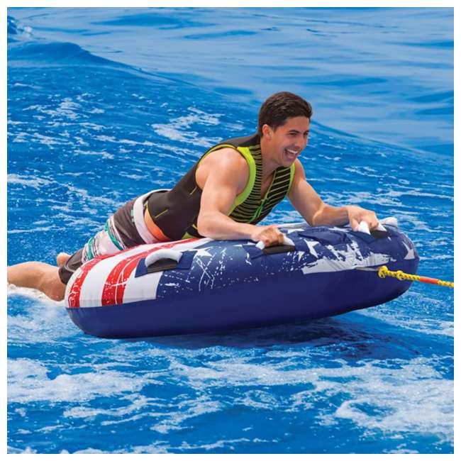 53-4310K SportsStuff Stars & Stripes 1-2 Rider Towable Inflatable Tube 1