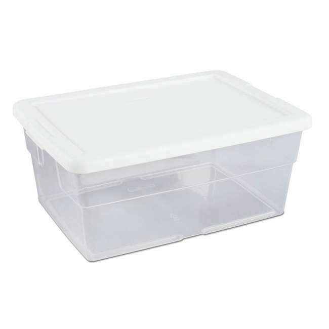 108 x 16448012-U-A Sterilite 16 Quart Storage Sweater Tote Box Container Tub (Open Box) (108 Pack) 5