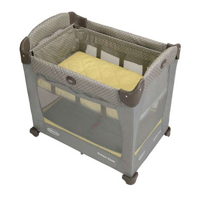 1843727 Graco Baby Travel Lite Portable Crib with Stages & Bassinet - Peyton | 1843727 1