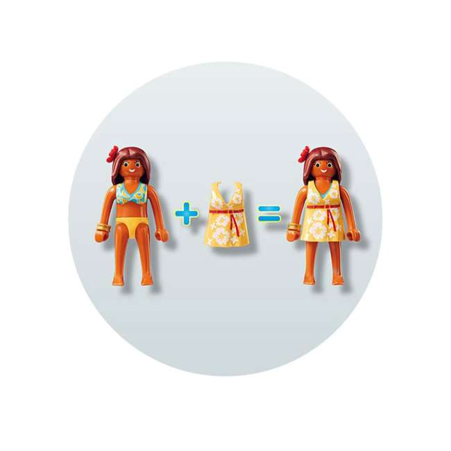 9420 Playmobil 9420 Summer Villa Interactive Doll House & Figures Play Set, Ages 4+ 7