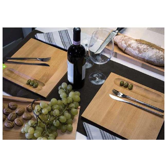 55 Artelegno 55 Firenze Double Sided Plate/Cutting Board w/ Well, Solid Beech Wood 1