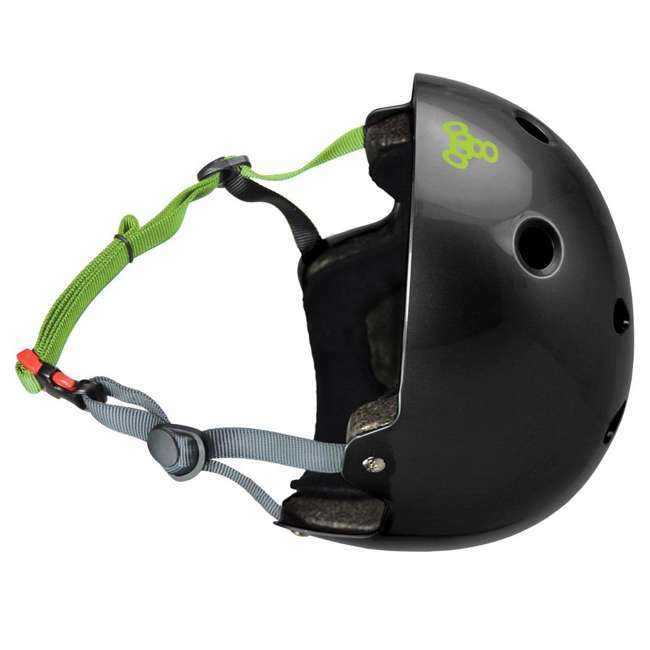 T8-3047-U-A Triple 8 Hardened Dual Certified Skate and Bike Helmet with EPS Liner, S/M 1