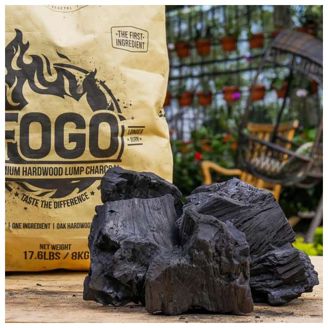 FG-CH-FP-17/FB-17 FOGO Super Premium and Premium Oak All-Natural Hardwood Lump Charcoal, 17 Pounds 2