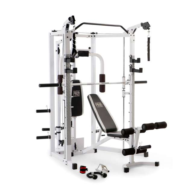 SM-5276 Marcy Combo Smith Strength Home Gym Machine, White 1