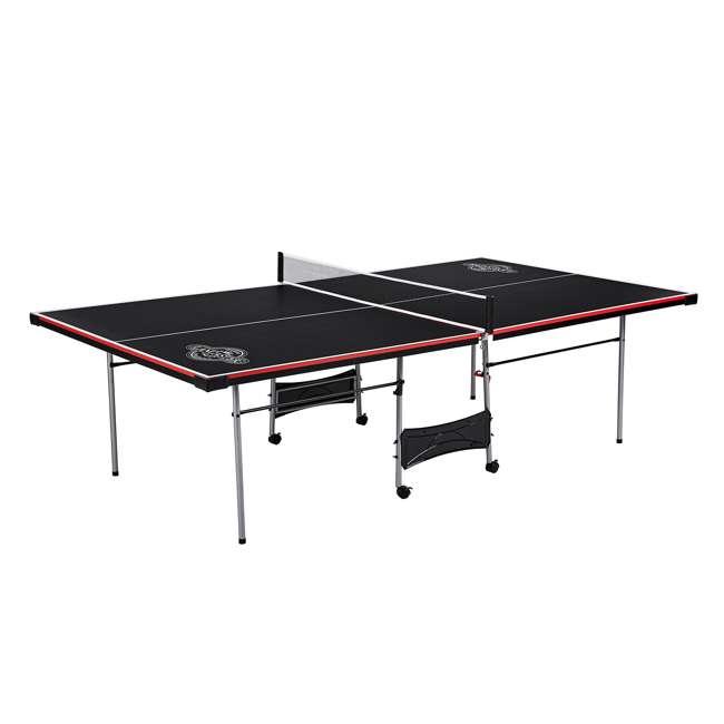TT415Y19016 Lancaster 4 Piece Official Size Folding Table Tennis Ping Pong Game Table, Black