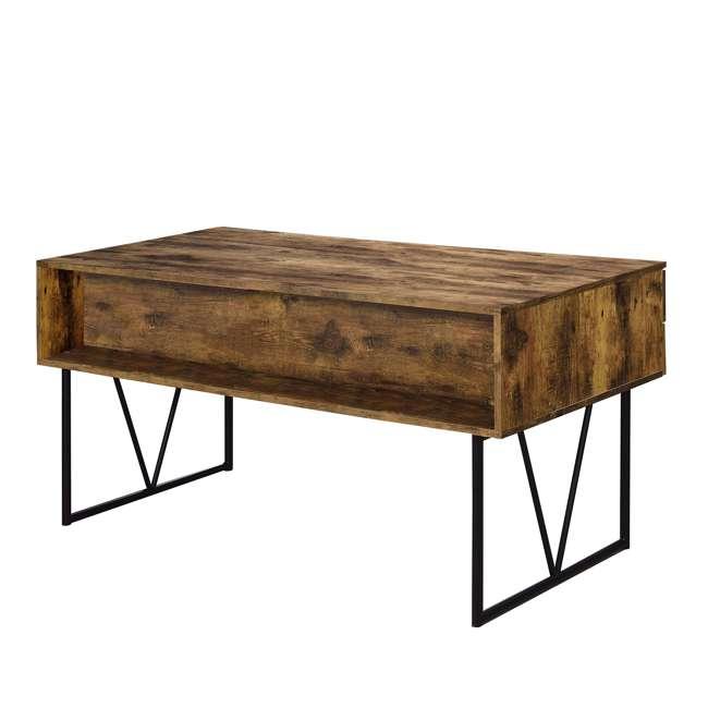 CH-800999-U-B Coaster Home Furniture Barritt 4 Drawer Writing Desk, Antique Nutmeg (Used) 1