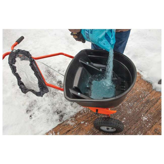 45-0502 Agri-fab 130 Pound Push Spreader for Ice Melt and Fertilizer 3