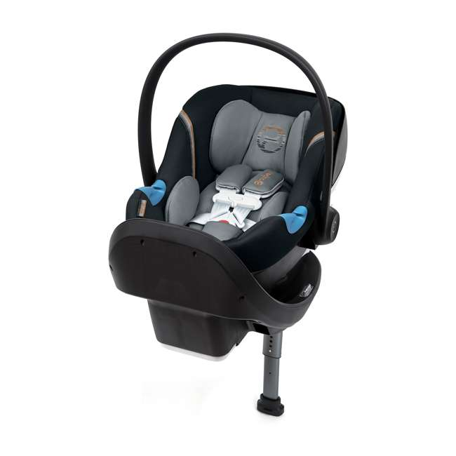 518002097 Cybex Aton M Portable Newborn Infant Baby Car Seat & SafeLock Base, Pepper Black