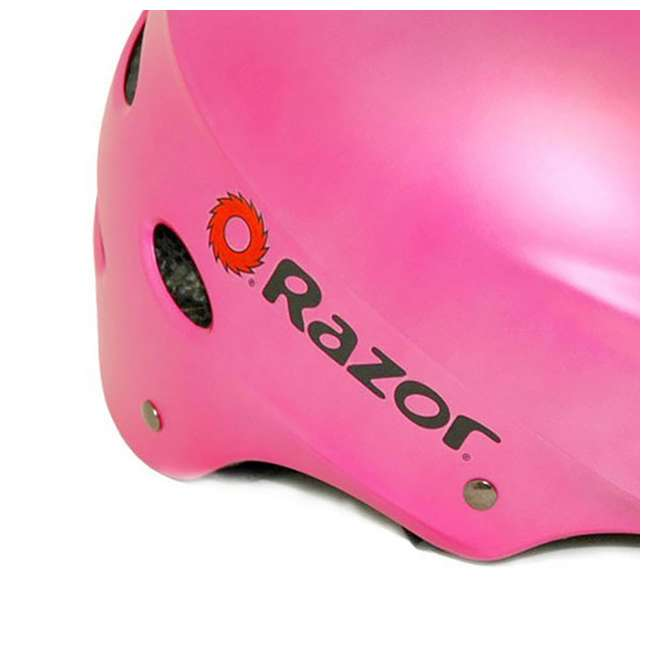 13111261 + 2 x 97783 Razor E100 Electric Ride-On Kids Scooter, Pink (2 Pack) + Helmets 10