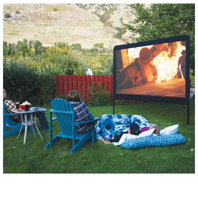 """CC_OS120-U-C Camp Chef Entertainment 120"""" Backyard Movie Projection Big Screen (For Parts) 2"""