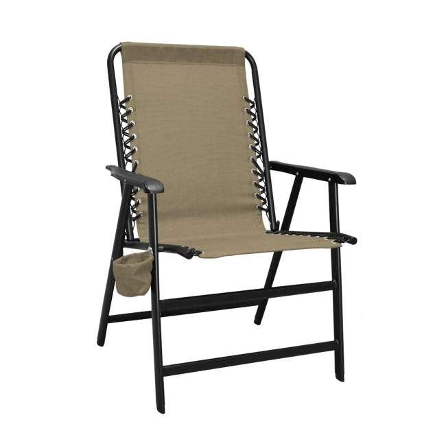 CVANXFC01152-2PK-U-B Caravan Canopy Infinity Suspension Folding Chair with Cupholder (2 Pack) (Used) 1