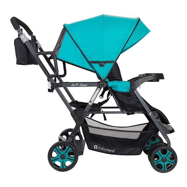 SS80A31A Baby Trend Sit N' Stand Sport Single or Double Baby Toddler Stroller, Meridian 2