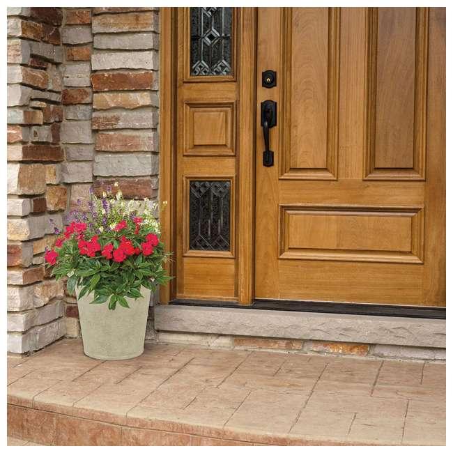 1613S2-2PK-U-A Suncast Langston 16 Inch Round Flower Pot Planters, Vanilla (2 Pack) (Open Box) 2