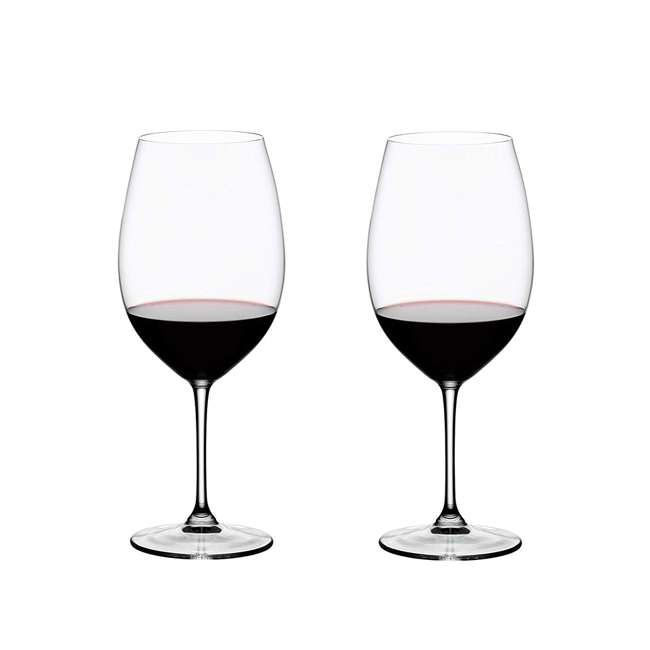 6416/00 Riedel Vinum Bordeaux Grand Cru Crystal Red Wine Glass, 33.86 Ounce (2 pack)
